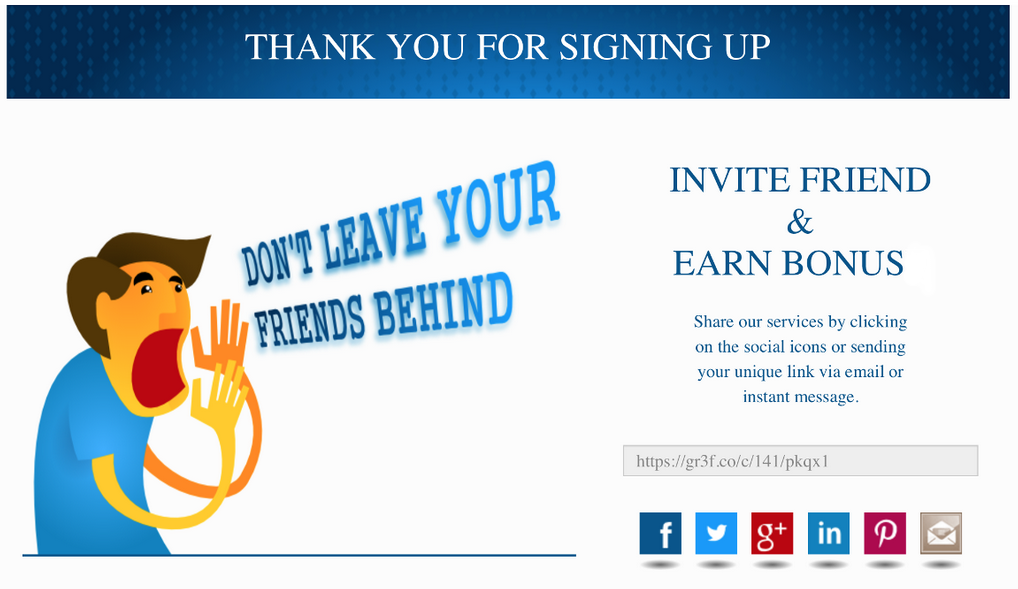 How referral program works for Refer a friend email template
